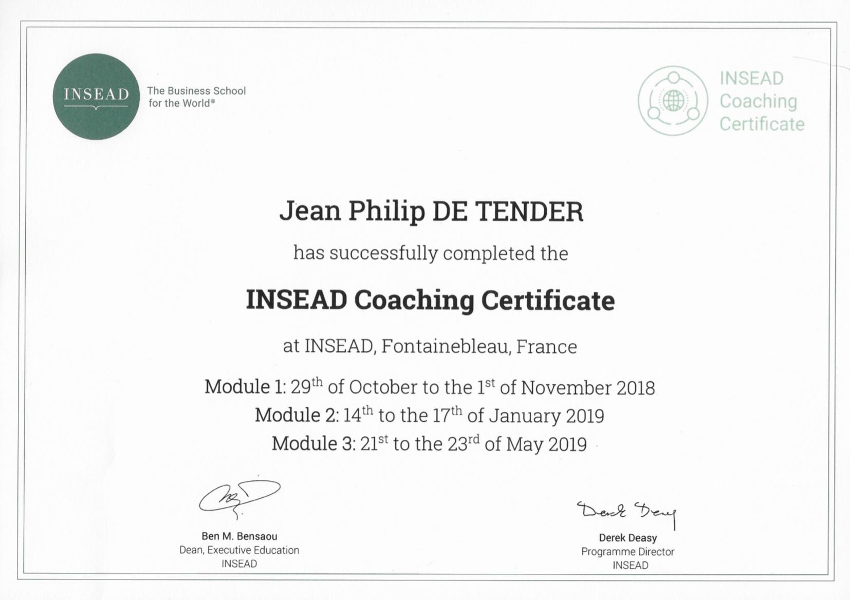 executive coaching | Jean Philip De Tender
